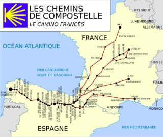 Les chemins de compostelle.wiki commons.