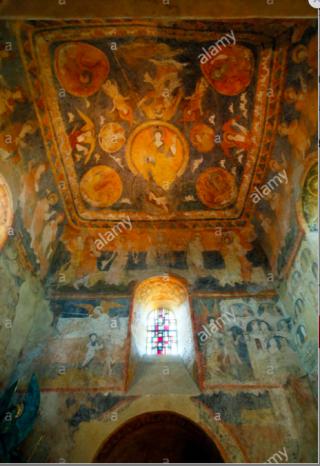 LePuy-en-Velay.10th century art in chapel St-Michel-d'Aiguilhes.internet