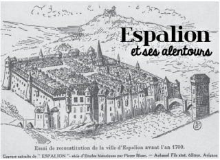 Espalion.suggested view of 1700