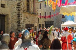 Estaing.feast day of Saint Fleuret procession.