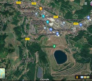 Decazeville.google maps view