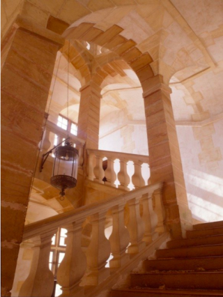 Stairs.Grand staircase at Château de Cormatin.c1624