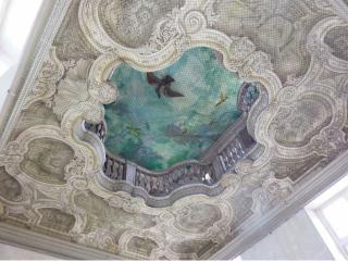 Nancy.trompe l'oeil ceiling in Hotel de Ferrari.c1722.wikipedia