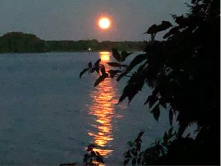 Island.Orange moonrise.July2020