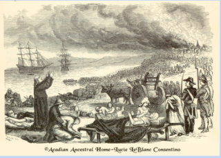 Arcadians praying before being forced aboard transport ships.