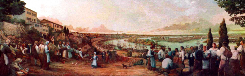 The Port of Nantes  1765.Arrival of Arcadians.Robt Dafford