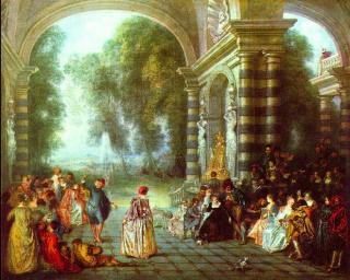 Jean-Antoine Watteau.Les Plaisirs du Bal  c1717