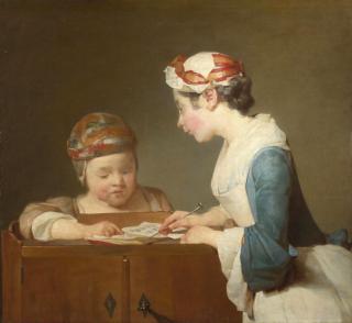 Chardin.The Young Schoolmistress  c1736