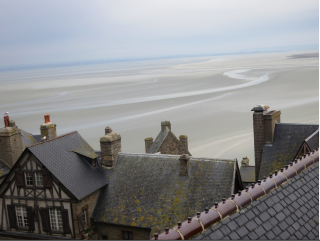 Mont-St-Michel.the view from our hotel room.January 2017