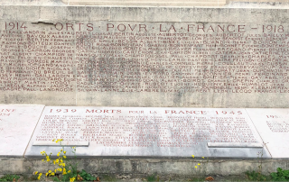 Langres.Names of those who have died for France.Sept2018