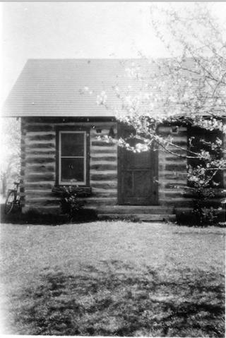 Cabin on the Briggs farm.1946