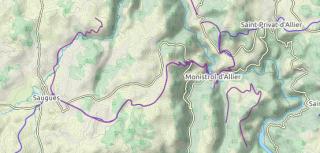 Montrisol a Saugues.clear map