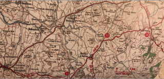 Topoguide map of territory from Aumont-Aubrac to Nasbinals