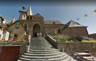 Estaing.Eglise de Saint-Fleuret.google maps view