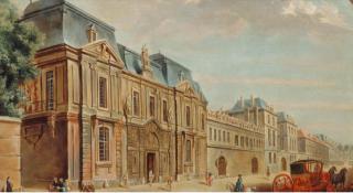 Paris.Museum of Paris c 1740.1926 print from Carnavalet website