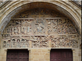 Conques.Tympanum of the Last Judgment.wikipedia