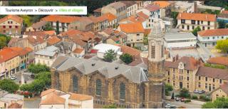 Decazeville.aeriel view from Aveyron tourist website.