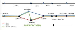 GR6.Estaing to Conques via Campuac