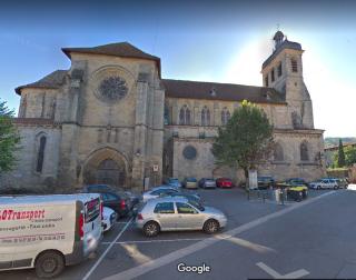 Figeac.Abbaye Saint-Sauveur.google street view