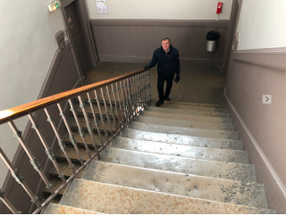 Stairs.18th century stairs in Vienne.Nov2019